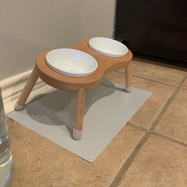 cat bowl stand
