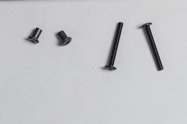 金屬對鎖螺帽,再多次的組裝也可以承受