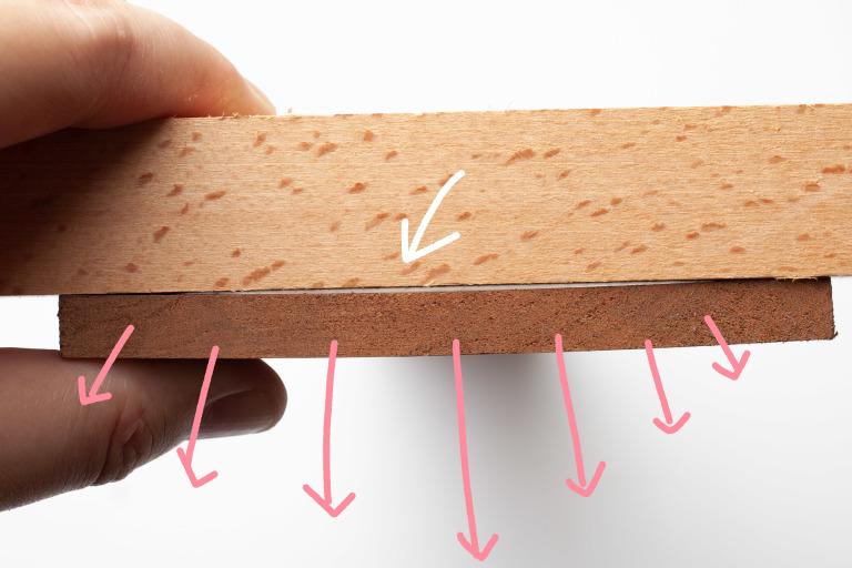 木料材易因為氣候環境的變而形變